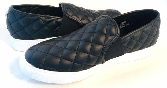 cf64d4b977a New Steve Madden ENDELL Black Quilted LOW TOP Fashion Sneaker Women's 6.5M  - 10M