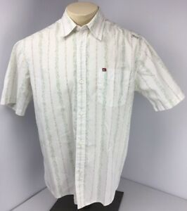 77886b89 Image is loading Vtg-90s-QUIKSILVER-Mens-Collared-Button-Down-Shirt-