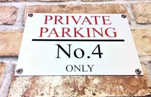 PERSONALISED QUALITY PRIVATE NO PARKING METAL SIGN WEATHERPROOF 60CM X 40CM