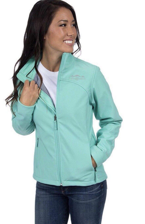 Lauren James Bradford Seafoam Softshell Gingham Lining Jacket