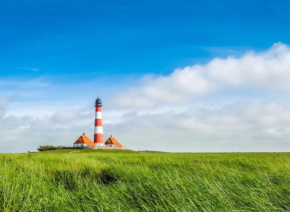 Fototapete Leuchtturm Nordsee Westerheversand Kleistertapete oder Selbstklebend
