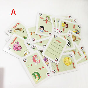 36pcs/set Creative Colorful Learning Animal ABC Math Cards Book for Baby Kids
