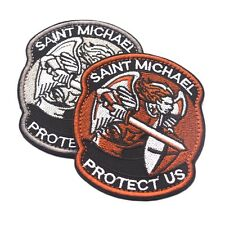 Saint Micheal Badger Military Tactical Army Morale Combat Multicam Patch OW