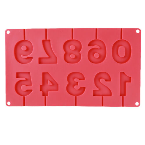Silicone Bonbon Fondant Chocolat À faire soi-même Mold 3D anniversaire 0-9 numéros forme nous