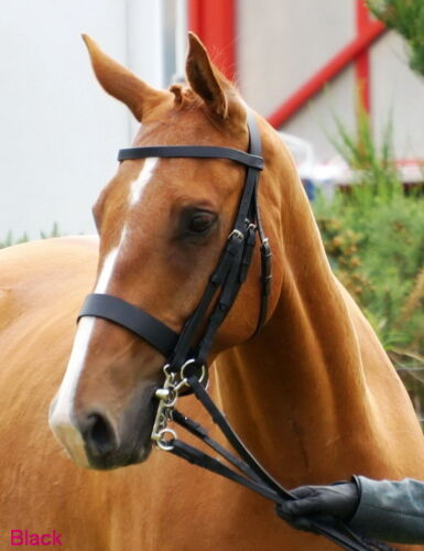 """FSS Traditional English Working Hunter Show Hunt Bridle Wide 3//4/"""" Cheeks 2/"""" Nose"""