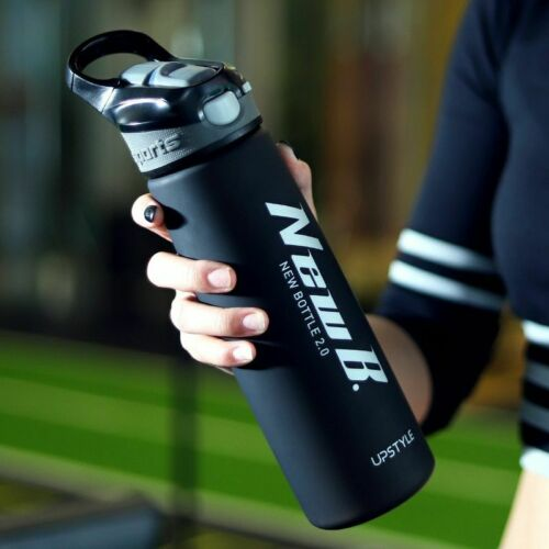 Water Bottle For Outdoor Travel Portable Drinkware Plastic 1pc Shaker With Straw