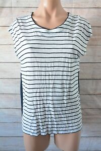 Seed-Heritage-Top-Sz-Small-8-10-Black-White-Striped-T-shirt-Blouse