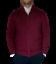 maglione-cardigan-uomo-classico-lana-cachemire-cotone-girocollo-zip-regular miniature 1