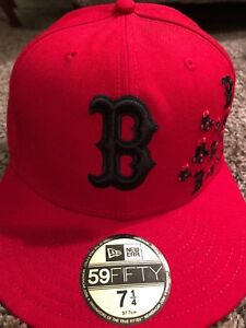 1aa06d9d1cd Boston Red Sox 7 1 4 Fitted Authentic Red B   Sox Design New Era Hat ...