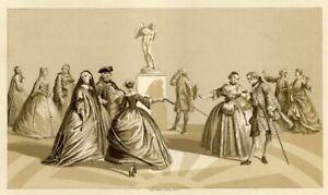 Paris-Mode-Costumes-18eme-siecle-1720-1740-Chromolithographie-XIXeme