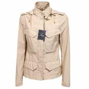 promo code 3cca4 b13f4 Details about 5190R giubbotto donna FAY giubbino giacca beige jacket woman