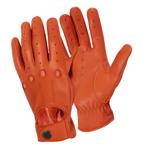 CHAUFFEUR REAL SOFT SHEEP NAPPA LEATHER MENS DRIVING GLOVES DRESS WINTER RETRO