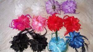Joblot 24 pcs Mixed colour Faux Silk flower hairclips//brooch New wholesale B