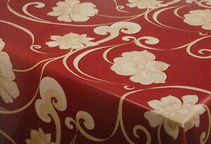 wachstuch tischdecke eckig rund oval abwaschbar floral gold rot k 150174 ebay. Black Bedroom Furniture Sets. Home Design Ideas