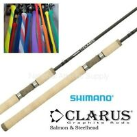 Shimano Clarus 8'6 Salmon Steelhead Spinning Fishing Rod 2pc Med Hvy Css86mh2b