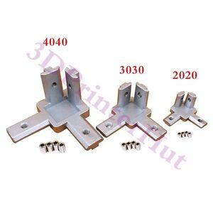 4pcs 2020 Aluminum Profile 3 way 90 deg inside corner bracket Interior Connector