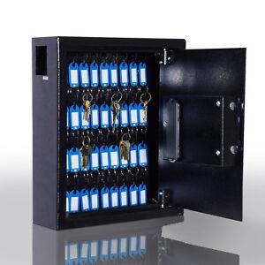 40 Steel Safe Hook Key Box W Tag Digital Lock Storage Case