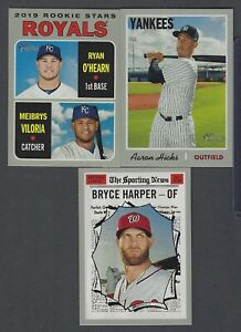 Verzamelingen 2019 TOPPS HERITAGE BASE SHORTPRINT SP SINGLES YOU PICK & COMPLETE YOUR SET