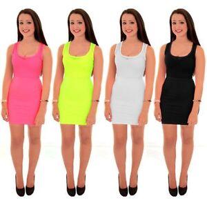 Femmes Nicole Celebrite Dos Nageur Sans Manche Resille Mini Robe Courte Moulante Ebay