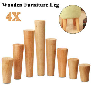 Details About 4x Wooden Sofa Legs Replacement Tapered Feet For Table Chair Stool Chest Uk