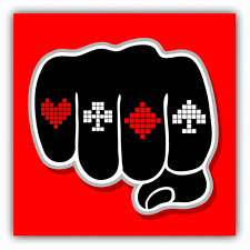 "Poker Hand Cards Las Vegas Car Bumper Sticker Decal 5"" x 5"""