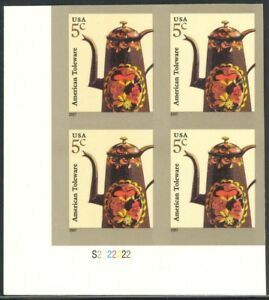 3756Ab-5c-Toleware-Plate-Block-Imperforate-NH
