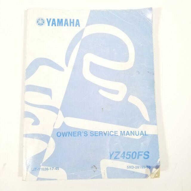 2004 Yamaha Yz450fs Yz 450 Fs Factory Service Manual Oem