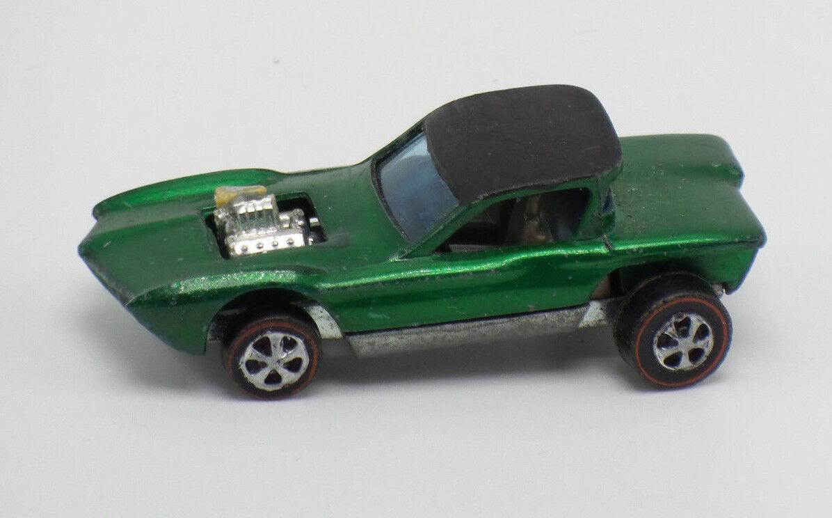 Hot Wheels 1967 Python Green HK Vintage Figure Car Red Line
