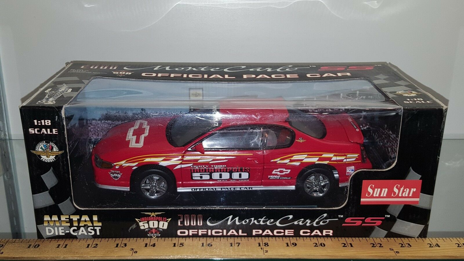 1 18 Sun Star Indianapolis 500 oficial Pace Car 2000 Monte Carlo Ss rosso BD-U