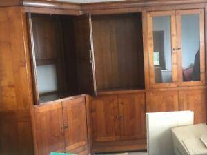 Bibliothèque - meuble télé en bois