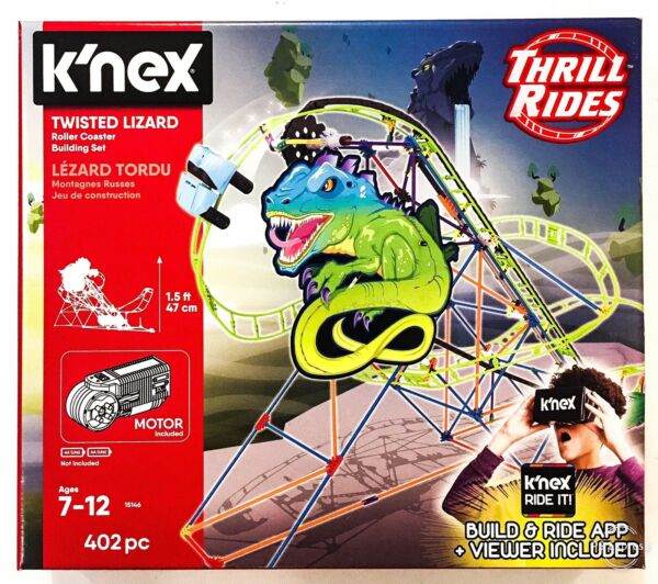 Knex Twisted Lézard-vr Ride It App Roller Coaster Building Set Jouets 7-12 Ans
