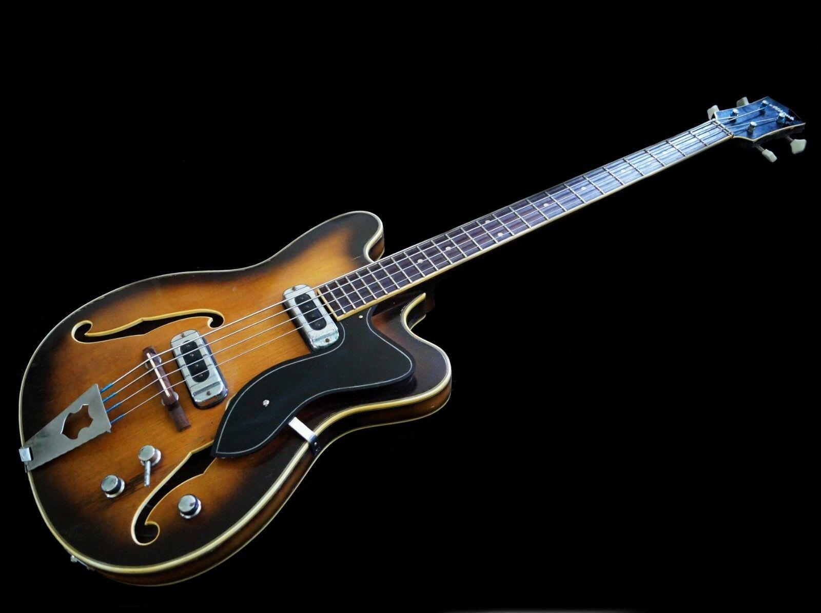 '60s Original Vintage German MIGMA Hollowbody-Bass DDR GDR