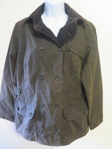 Barbour L2013 Ladies Double Breasted Waxed Cotton UK 18 Euro 46 in ... 91caf65d32d