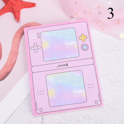 creative computer game shape memo pad diy diary sticky notes office supplies BR