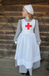 historical costume clara barton red cross gray civil war