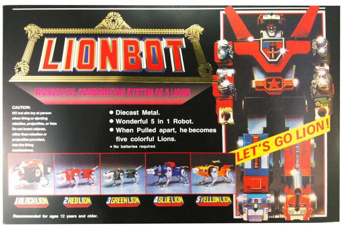 FAST Voltron Lionbot 1980 Chogokin Die-Cast Action Combiner Figure Taiwan Ver