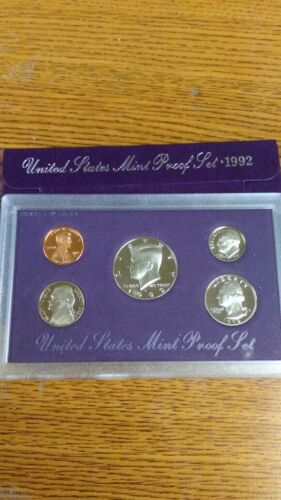 UNITED STATES MINT PROOF SET 1992 COIN SET NEW IN ORIGINAL PACKAGE