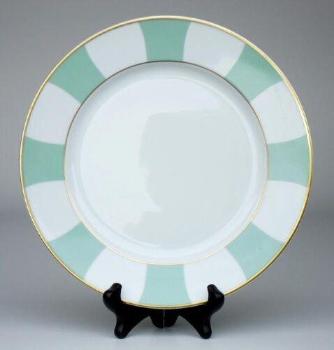 Assiette plate GALERIE ROYALE vert amande or porcelaine BERNARDAUD Limoges NEUVE