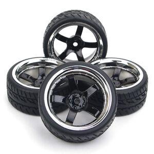 RC-4X-Run-Flat-Tires-amp-Wheels-12mm-Hex-For-HSP-HPI-1-10-On-Road-Racing-Model-Car