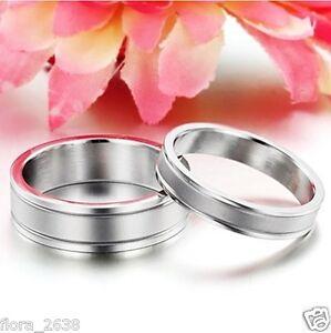 ACIER INOXYDABLE bijoux fantaisie. Belle bague anneau alliance H /& F TITANE