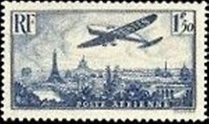 FRANCE-TIMBRE-STAMP-AVION-N-9-034-AVION-SURVOLANT-PARIS-1F-50-034-NEUF-X-TB