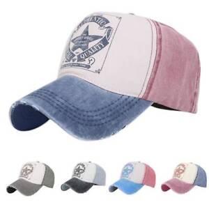 60ea66e411d Image is loading Adjustable-Vintage-Baseball-Cap-Denim-Distressed-Trucker- Hat-