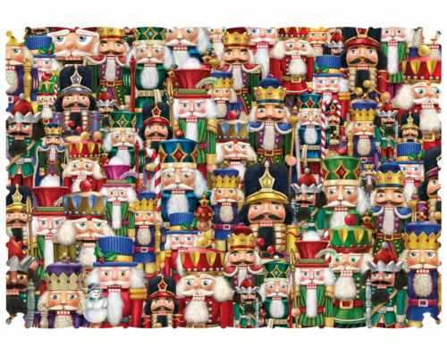 WENTWORTH WOODEN JIGSAW PUZZLE FESTIVAL OF NUTCRACKERS  40 Pieces