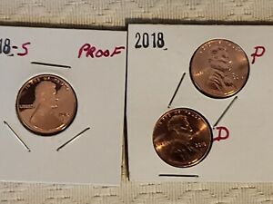 2 rolls* 2018 P D Lincoln Penny Cent  2018 P D Nickel 2018 P D Dime roll