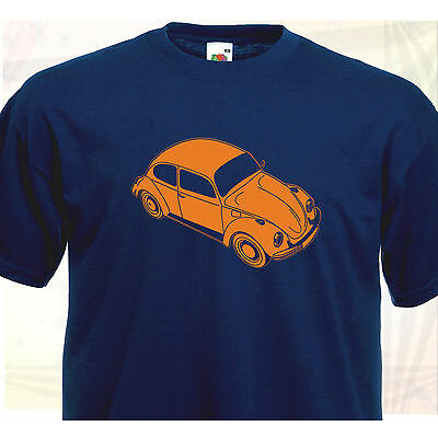 T-SHIRT COX COCCINELLE VW VOLKSWAGEN -Voiture Vintage Retro Old School - Type 1