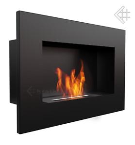 bio ethanol kamin delta schwarz wandkamin dekoration. Black Bedroom Furniture Sets. Home Design Ideas
