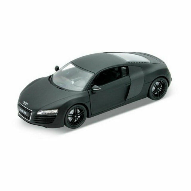 1:24 Scale Audi R8 V10 Mat Black NEX Models Welly Collection Diecast Model Car