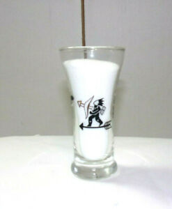 A-MUST-HAVE-VINTAGE-LIBBY-GLASS-ROOSTER-INDIAN-WEATHER-VANE-3-5OZ-SHOT-GLASS