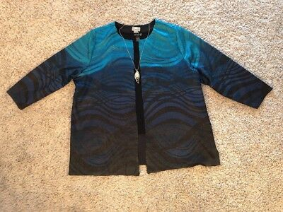 26/28w Euc Spare No Cost At Any Cost Women's 3x Outfit: Blazer; Top; Nwot Necklace