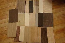 "Sample Pack- 20 kinds of wood veneer 3 sheets each, 5""x8"" sheets   IC10"
